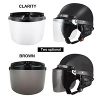 Casques de moto Snap Snap 3-Snap Flip up Visière Visière universelle renforcée Polycarbonate Bouclier Lens Moto Accessoires 1