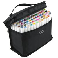 Conjunto de marcadores de cepillo doble Touchfive Graffiti Marker Pen Set TouchNew Sketching Marcadores 60 Colores Dibujo Pen Manga Diseño para la escuela 201125