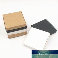 24pcs / Lot 2 Taille classique Blank DIY style rétro papier carton Cuboid Boîte pour la main savon serviette Mini Pizza Boîte à Gâteau Paquet