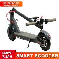 США Европа Склад Склад Электрический скутер 350 Вт 36 В 7,8х батарея 8,5 дюйма сплошные шины умные скутеры с приложением Bluetooth Factory MK083