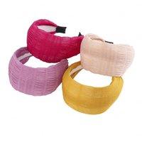 Plisada diadema de ala ancha Hairbands Bisel turbante Para Mujeres Niñas Accesorios para el cabello banda cabeza del aro Headwear Cabeza