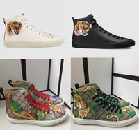 Sneakers Designer da uomo Sneaker ad alta piaga stampata Stivali in vera pelle con gatto arrabbiato Tiger Dragon Sneaker per uomo DONNE Dimensioni 35-45