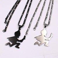 XMAS Cadeaux en acier inoxydable noir homme Hatchet collier pendentif chaîne de 4 mm 24 « » pour hommes HIP-HOP