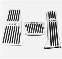 Car Stainless Steel Gas Brake Foot Pedal Pads Cover With Res...