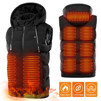 9 Places USB Heated Vest Jacket Portable Heating Warm Vest E...
