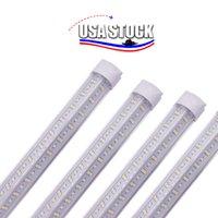 2ft 3ft 4feet V-shape 8ft LED 튜브 조명 T8 통합 쿨러 도어 디자인 숍 LED 조명기구 T8 LED 튜브 액세서리 144W