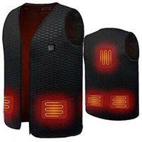 Electric Heated Vest Jackets USB Warm Up Heating Pad Body Warmer Winter Clothing Unisex d88