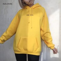 Zuolunouba الخريف الشتاء أزياء الصوف الأصفر الصوف المتناثرة السترة الإناث فضفاض المرأة هوديي بلوزات عارضة معطف Y200917