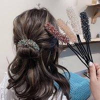 Mode-Kristallhaar-Roller-Frauen-Mädchen-Pferdeschwanz-Twist Clip Acetate Banana Lockenwickler Kopfbedeckung Styling Zubehör