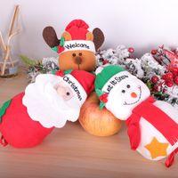 Быстрая перевозка груза 2020 Рождество Apple, сумка Candy Bag Bottom кулиской Мультфильм Ткань Рождественский подарок сумка Новогоднее украшение F8602