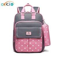 Okkid Haute Quality Kids School School Sac à dos pour Girls School Sac Girl Schoolbag Sac à linge Enfants Sac à crayons Jolie Crayon Case Lj201225
