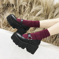 BYQDY Platform High Heels Women Shoes Round Head Mary Jane S...