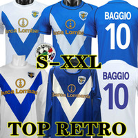 Baggio 03 04 Brescia rétro Calcio Soccer Jerseys Caracciolo Futbol Camisas Vintage Football Camiseta Chemise classique Maillot 2003 2004