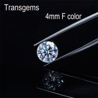 Transgem 1pcs 4mm 0.25CT ct f farblose Herzen und Pfeile geschnittene moissanit lose stein moissanit diamant edelstein für jwelry y200620