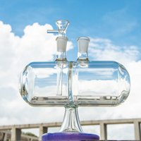 7 pollici INFINITY WATERFALL GLASS BONG BONG GRAVITY GRANDE ACQUA TUBI ACQUA Verde Viola Cancella Olio DAB STRS 14mm Giunto maschile con ciotola XL-2061