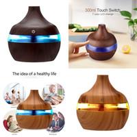 Household Umidificador 300ML Aroma Essencial difusor de óleos umidificador de ar ultra Grain Decoração colorida Brilho difusores 13 6BH K2