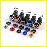 Lenti per telefoni cellulari, 3 in 1 grandangolare Macro Fisheye Lens fotocamera per cellulari Lenti per cellulari Pesce Eye Lesses per iPhone 6 7 Microscopio smartphone