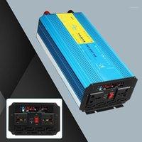 Inversor do inversor do Starterpower do salto do carro 12V / 24V para 110V / 220V Kroak 2500W Pure Sine Onda LCD LCD Azul Conversor de Energia Solar para Caminhão1