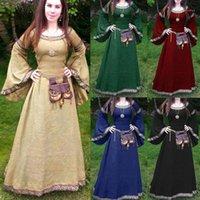 Mittelalterliche Cosplay Kostüme für Frauen Kleid Halloween Karneval Party Performance Langarm Mittelalter Renaissance Kleider1