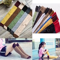 Kids Socks Four Seasons High-quality Letter Personality Retro Color Cotton Fashion Long Tube Comfortable Socks