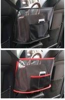 سيارة حقيبة مقعد المنظم متعدد جيوب شماعات شبكة أكياس مطوية حقيبة التخزين شماعات المقعد الخلفي غطاء حقيبة جيب محفظة أكياس حامل E122804