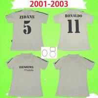 100 лет 1902 ретро футбол Джерси 2001 2002 2003 Zidane Figo Raul Roalthdo Real Madrid футбольная футболка 01 02 03 старинные 100-го высочайшего качества с патчами