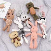 Creative Network Red Schoolbag Doll Кулон Ключ Кольца Симпатичные подарки Для Девочки и Женщины Прекрасный Кролик Плюшевые Брелки Оптовая сумка Подвеска