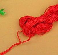 27 metros 1 mm Cordón de algodón encerado rojo cable encerado cuerda de cuerda correa collar Cuerda de cuerda DIY Joyería haciendo para S BBYWSE BDE_LUCK
