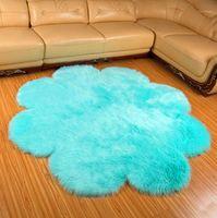 Flauschige runde Teppich Teppiche für Wohnzimmer Dekor Faux Pelz Teppich Kinderzimmer Lange Plüsch Teppiche für Schlafzimmer Shaggy Area Teppich Moderne MAT1