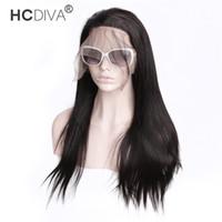 13 * 4 parrucche di capelli umani anteriori del merletto parrucche vergini brasiliane capelli vergini dritti parziali medio pizzo parrucche frontali per le donne nere per pizzicata Densità del 150%