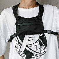 HBP Göğüs Çantaları Erkekler için 2020 Tuval Tacticl Göğüs Teçhizatı Çanta Hip-Hop Bel Çantası Erkek Moda Streetwear Yelek Çanta Yansıtıcı Naylon Yelek