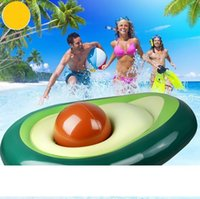 fruit shape inflatable mattress swim rings summer water sport toy giant Avocado floats floating swim pool lounger chair wholesale