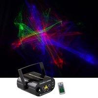 Mini 4 объектив RGRB Гипнотическая Аврора Лазерный свет Смесись синий светодиодный дистанционного управления скорость двигателя DJ Gig Party Home Stage Lighting SL-A2