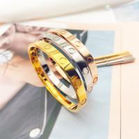 2021 браслет классический модный титановый сталь браслет женщины мужчины браслет алмазные браслеты с сумкой
