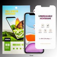 Protecteur d'écran de téléphone TPU de TPU Matte incassable pour iPhone 12 Mini iPhone 11 Pro Max XR XS Max 7 8 Huawei Mate 40 Pro