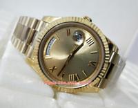 3 farbe beste qualität männer 40mm tagszeit 228238 18k gold römisches zifferblatt armbanduhren swiss cal.3255 moveemen mechanische automatische herrenuhren