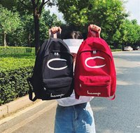 Fashion Letter Print Backpack CHAMP Students School Bags Tee...