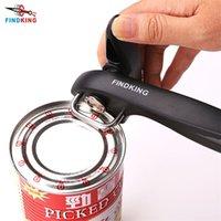 Findking Melhores latas abridor de cozinha ferramentas de cozinha profissional manual manual de aço inoxidável lata de abridor de corte manual de corte de corte 201208