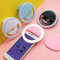 USB LED سيلفي الدائري ضوء التصوير الذكي selfie تعزيز كليب على ملء ضوء selfie الدائري الصمام مصباح