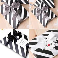 Geschenkboxen Schwarz Streifen Kleine Paket Kreative Idee Candy Container High Grad Packing Kissen Karton Fabrik Direktverkauf 0 42HJ P1