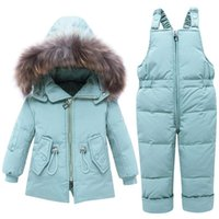 2020 Winter Infant Baby Suit Thicken Warm Kids Down Jacket Coat Jumpsuit Children Girls Clothing Set 1-4 Years Baby boy Snowsuit