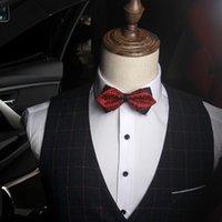 erkekler Parti Nişan düğün bağları için Moda Ayarlanabilir Papyon Ekose iş takım elbise gömlek papyon elbise moda olacak ve yeni kumlu