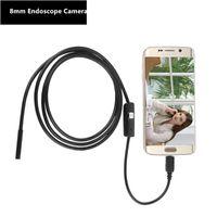 Android 8mm impermeabile videocamera per endoscopio USB serpente mini tubo per auto metallico cavo camara endoscopica kamera strumento diagnostico endoscopia