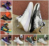 2021 Tasarımcı ZK5 KB5 5 S Bruce Lee Protro Basketbol Ayakkabıları 5x Champ Lakers Mor Altın 2 K20 Kaos Mamba Zoom ZK 5 V Erkek Sneakers Tenis