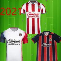 20 21 Chivas de Guadalajara fútbol jerseys A. Pulido López Home Away Rojo Blanco Camisetas Uniformes de Fútbol tercera manga corta camiseta de fútbol