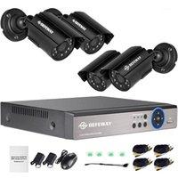 Sistemler Göz Bakımı 1080n DVR 1200TVL 720 P HD Açık Ev Güvenlik Kamera Sistemi 4CH CCTV Video Gözetim Kiti 4 adet Ahd Set1