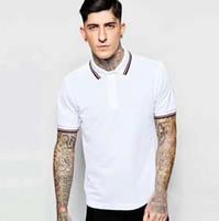 2020 جديد كلاسيكي الرجال فريد بولو قمصان بيضاء إنجلترا الأزياء الصلبة قصيرة الأكمام عارضة بولو الذكور بيري تي شيرت قمم المحملات أسود حجم S-2XL