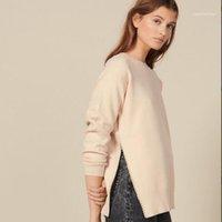 럭셔리 디자이너 의류 여성 스웨터 진주 상감 니트웨어 스웨터 세트 헤드 라운드 칼라 핑크 컬러 사이즈 S M L11
