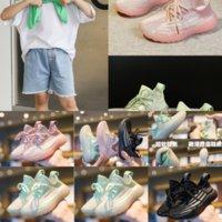 9CCP Hobibear Crianças Casuais Boys School Shoes Kids Kanye West 700 Sapato Vermelho Top Moda Meninas Kids Meias Sapatos Alta Escola de Designer Black