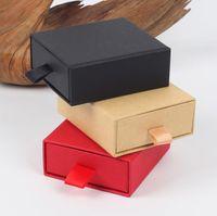 Luxo elegante 8 * 7 * 3cm caixa de gaveta com esponja para jóias exposição brinco colar embalagem caixa de gaveta com fita sn1865